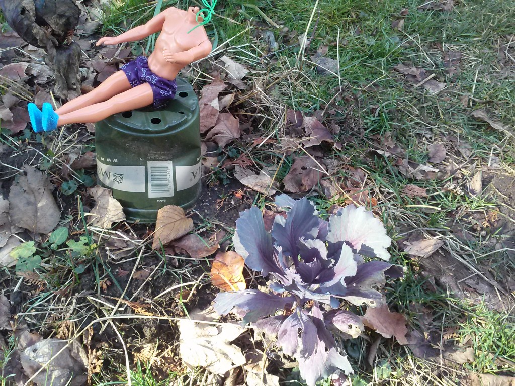 free headless doll graces garden